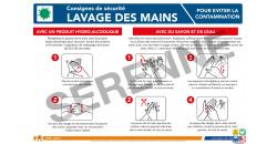 Consigne de sécurité lavage des mains