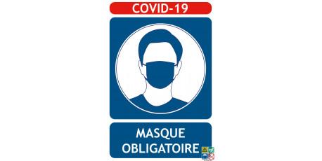 Panneaux COVID-19 masque obligatoire