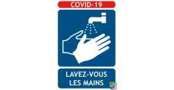 Panneaux COVID-19 lavage des mains obligatoire