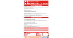 Consigne de sécurité soins aux brûlés