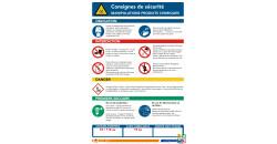 Manipulation produits chimiques consignes de sécurité