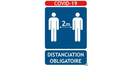 Panneaux COVID-19 distanciation 1M obligatoire