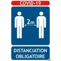 Panneaux COVID-19 distanciation 2 Mètres obligatoire