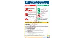 Consigne de sécurité parc de stationnement
