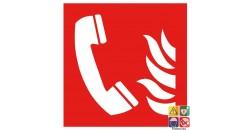 Picto téléphone à utiliser en cas d'incendie