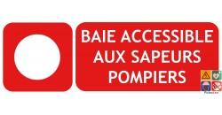 Panneau baie accessible aux sapeurs pompiers