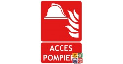Panneau accès pompiers