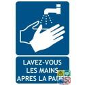 Panneau Lavez vous les mains après la pause