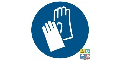 Picto gants de protection obligatoire
