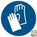 Picto gants de protection obligatoires