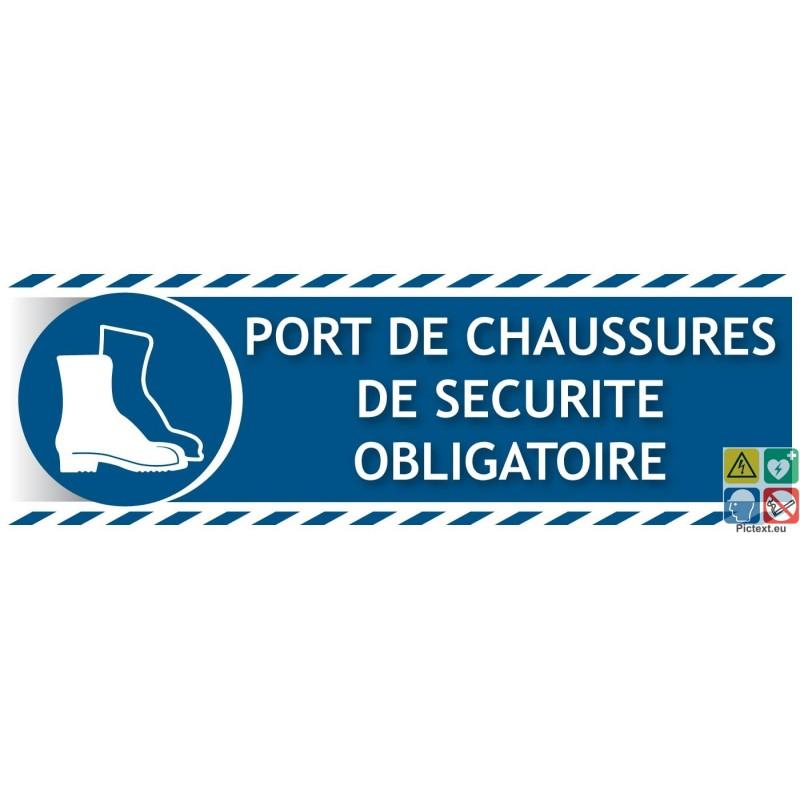Chaussures de s curit obligatoire - Port des lunettes de securite obligatoire ...