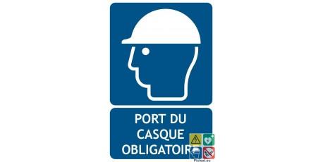 Panneau port du casque obligatoire