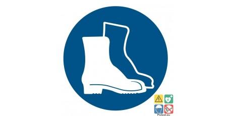 Picto chaussures de sécurité obligatoire