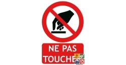 Panneau ne pas toucher picto-texto