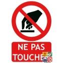 Panneau ne pas toucher