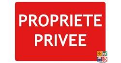 Panneau propriété privée texto