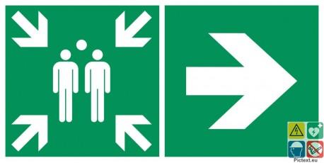 Point de rassemblement à droite
