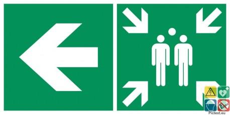 Point de rassemblement à gauche