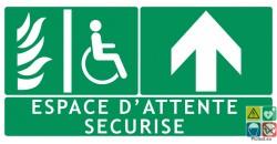 Panneau espace d'attente sécurisé devant