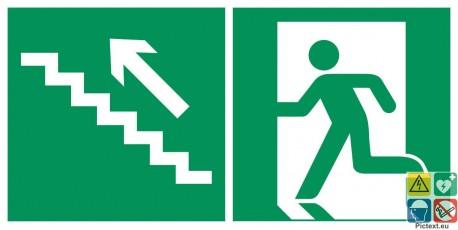 Evacuation escalier de secours montant à gauche