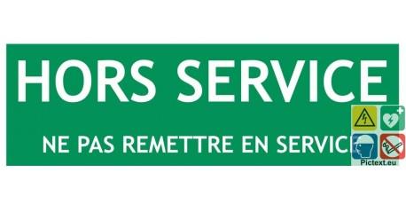 Panneau recto verso en service hors service