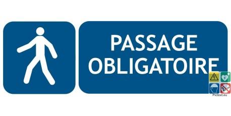Panneau passage obligatoire pour piétons