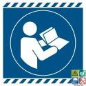 Picto obligation de consulter le manuel d'instructions