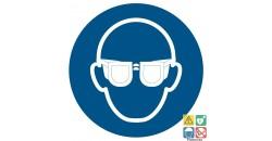 Picto lunettes de protection obligatoires