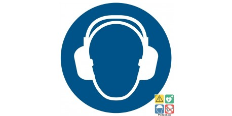 Picto casque anti bruit obligatoire
