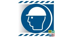 Picto casque de protection obligatoire