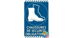 Panneau port des chaussures de sécurité obligatoire
