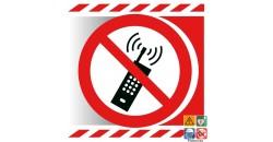 Picto interdiction d'activer les téléphones mobiles