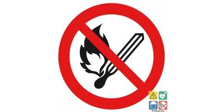 Picto flammes nues interdites