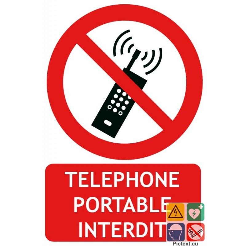 Signaletique Telephone Portable Interdit Avec Picto Iso7010