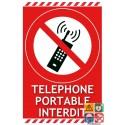 Panneau téléphone portable interdit