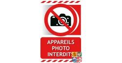 Panneau appareils photos interdits