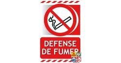 Panneau défense de fumer gamme xenon