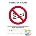 Interdiction de fumer panneau légal