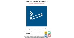 Emplacement fumeurs panneau légal