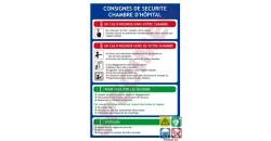 Consigne de sécurité chambre hôpital