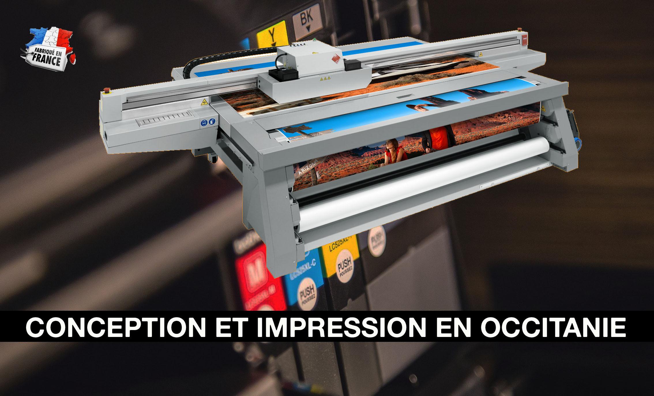 Impression et conception dans nos ateliers d'Occitanie